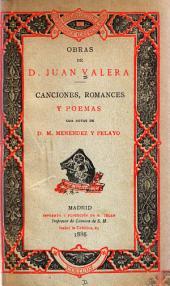 Canciones, romances y poemas, con notas de M. Menéndez y Pelayo