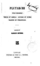 Plutarchi Vitae parallelae...