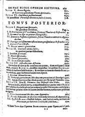 Opera Omnia: In duos Tomos distributa. Ad Frequentissimam Quamplurimorum à nobis vehementissimè efflagitantium instantiam Recvsa, Volume 1