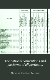 The National Conventions and Platforms of All Parties, 1789-1901: Convention, Popular, and Electoral Vote. Also the Political Complexion of Both Houses of Congress at Each Biennial Period ...