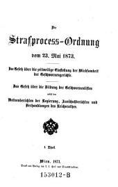 Die Strafprocess-Ordnung