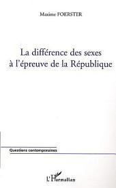 La différence des sexes à l'épreuve de la République