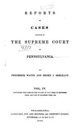 Reports of Cases Adjudged in the Supreme Court of Pennsylvania: Volume 1