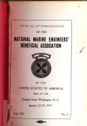 Journal of Proceedings of the National Marine Engineers' Beneficial Association of the United States of America