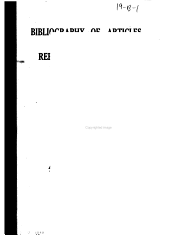 Bibliography of Articles on Refractory Materials