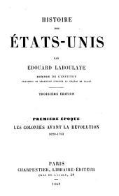 Les colonies avant la révolution 1620-1763