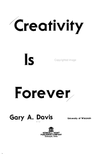 Creativity is Forever PDF