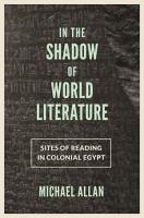 In the Shadow of World Literature PDF