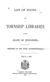 List of Books for School Libraries in the State of Wisconsin