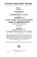 Aviation Regulatory Reform PDF