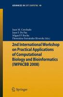 2nd International Workshop on Practical Applications of Computational Biology and Bioinformatics  IWPACBB 2008  PDF