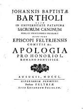 Apologia pro Honorio I. Rom. Pont