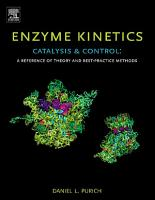 Enzyme Kinetics  Catalysis and Control PDF