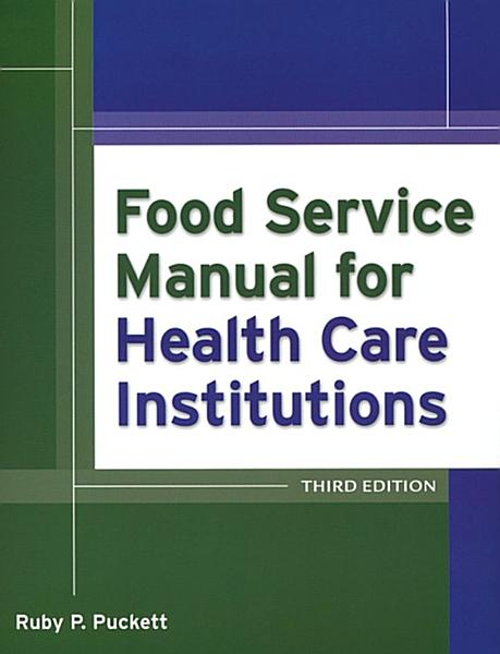 Food Service Manual for Health Care Institutions PDF
