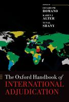 The Oxford Handbook of International Adjudication PDF