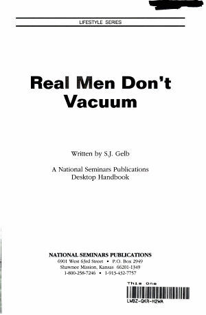 Real Men Don't Vacuum