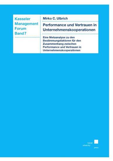 Performance und Vertrauen in Unternehmenskooperationen PDF