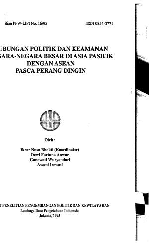 Hubungan politik dan keamanan negara negara besar di Asia Pasifik dengan ASEAN pasca perang dingin
