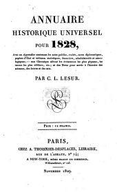 Annuaire historique universel pour ...: ou histoire et littéraire de l'année ...., Volume11