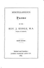 Miscellaneous poems ... Second edition. [The preface signed: G. M., i.e. George Moberly.]
