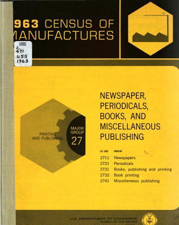 1963 Census of Manufactures PDF