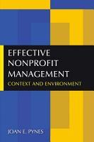 Effective Nonprofit Management PDF