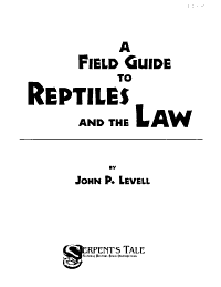 A Field Guide to Reptiles and the Law PDF
