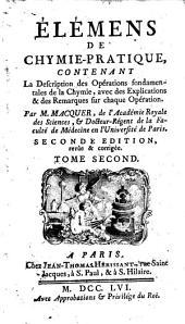 Elemens de la chymie-théorique: Volume2
