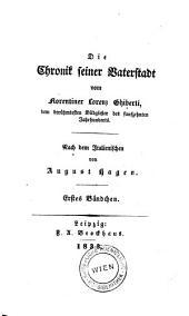 Die Chronik seiner Vaterstadt.: Band 1