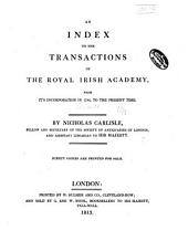 The Transactions of the Royal Irish Academy: Index