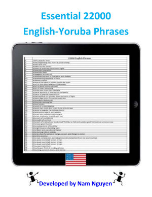 Essential 22000 Phrases In English Yoruba
