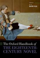 The Oxford Handbook of the Eighteenth Century Novel PDF