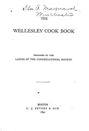The Wellesley Cook Book