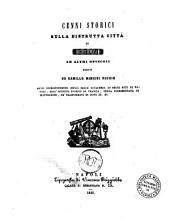 Cenni storici sulla distrutta città di Cuma ed altri opuscoli scritti da Camillo Minieri Riccio