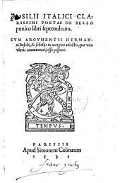 De bello punico libri septemdecim, cum argumentis Hermanni Buschii et scholiis in margine adjectis (etc.)
