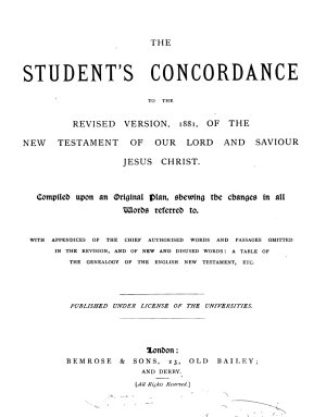 The student s concordance to the Revised version  1881  of the New Testament PDF