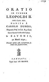 Oratio in funere Leopold II, 31 Martii 1792