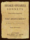 Shakespeare s Sonnets Never Before Imprinted PDF