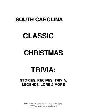 South Carolina Classic Christmas Trivia PDF