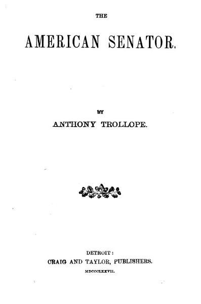 Download The American Senator Book