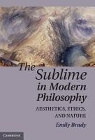 The Sublime in Modern Philosophy PDF