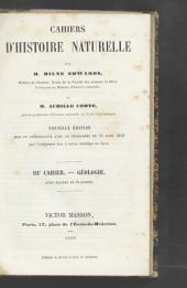 Cahiers d'histoire naturelle: 3e cahier - géologie