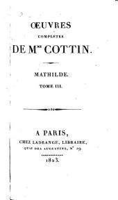 Mathilde: Volume3