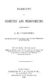 ELEMENTS OF GEOMETRY AND TRIGONOMETRY