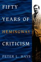 Fifty Years of Hemingway Criticism PDF