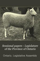 Sessional Papers - Legislature of the Province of Ontario: Part 7