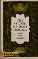 The Second Maiden s Tragedy PDF