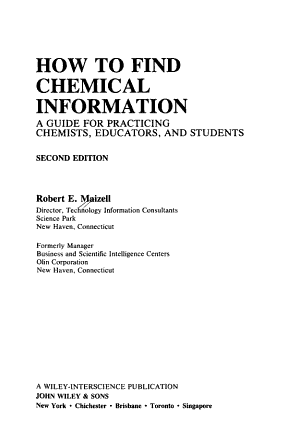 How to Find Chemical Information