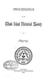 Proceedings of the Rhode Island Historical Society