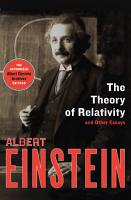 The Theory of Relativity PDF